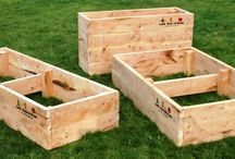 Cypress Raised Garden Beds / These are some examples of our cypress sleeper raised garden beds and wicking beds.