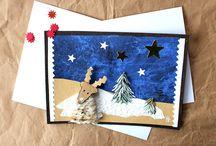 cartes de Noël faites main