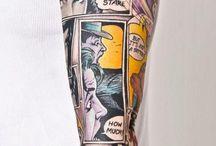 Tatuaże pop art/komiks