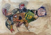 nabarus peintures/collages sur bois ou carton