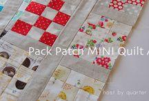 Pack patch mini quilt along