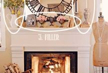 How to decorate fireplace