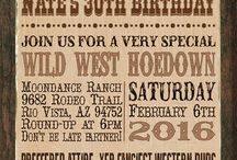 Wild west 40th invitation
