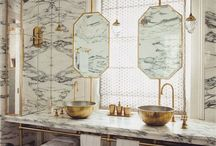 Bathrooms We are Lusting Over / Daily bathroom inspiration for your home. All things marble, timber natural tones and more.