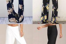 Patrón de pantalones