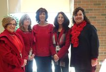 2014 Go Red Day / In February, UHS employees Go Red, to raise awareness of womens' heart health issues. For more information, visit: http://www.goredforwomen.org/wearredday/  Thanks to all our UHS employees; you look great in red!