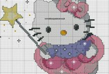 Ponto cruz hello kitty
