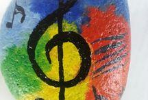 music painted rocks
