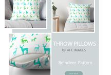 Redbubble Throw Pillows / Gorgeous throw pillow collection to add a little charm to your living room or office space. #homedecor #throwpillows   turquoise pillows, pink pillows, blue pillow, decorative throw pillows #redbubble
