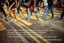 Frederick Buechner Photo Quotes / Combination Photo/Quote artwork from author and theologian Frederick Buechner.
