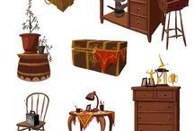 props (furniture, etc.)