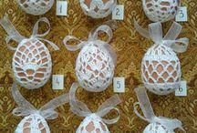 háčkované vajíčka Remeslá