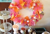 Ribbon Wreaths / Hand crafted ribbon wreaths.