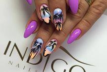 summer nails / warm nails art summer nails