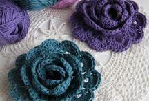 crochet petites roses