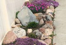 Rock flowerbeds