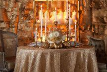 Pure gold wedding shoot theme
