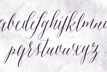 Calligraphy / Using calligraphy for your tea party invitations or place cards is an elegant choice.
