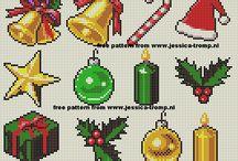 christmas perler