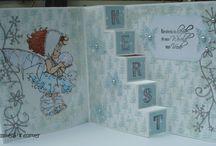 Christmas cards / Eigen gemaakte kaarten