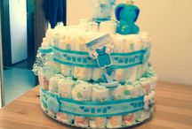 Cute stuff / Nappy cakes for newborn baby gifts