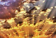 clouds&sun beams