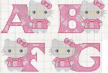 kruissteek motiefjes Hello Kitty