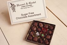 Sugar-Free Chocolates / We even have a delicious assortment of Sugar-Free Chocolates for those of you who just can't eat the sweets but still want a treat!!   www.hanselandgretelcandykitchen.com  1-800-524-3008
