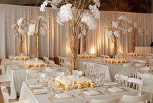 White&gold wedding