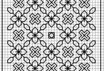 blackwork needlework / blackwork charts and patterns