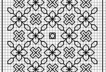 blackwork needlework / blackwork charts and patterns