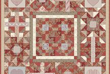 Coeur de Famille Deux / This block of the month has only a few places left. The fabric is from Moda French General Rouenneries Deux. This design is a combination of patchwork and embroidery. The four corners have embroidered hearts. The center is reserved for monograms and even text so you can make your own personalised quilt for instance for a wedding. Our quittop has both our monograms, the start date of our webshop and the logo of our webshop. Image will follow soon.  For more information check www.ikorniquilt.com