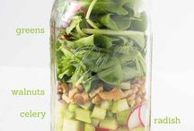 Mari's Mason Meals / I love me some mason jars! LOL. Perfect for a simple work lunch, treat, and just about everything!