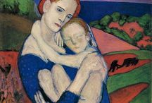 art - mother and child - variations on a theme