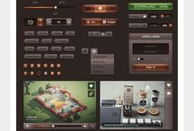 Samples: UI, charts, colors / Design samples, behance portfolio