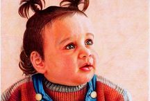Paintings of children 2 / by Penny Valadez
