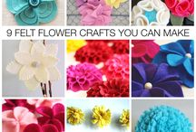 Felt/Fabric Flowers / by Vikki Sorensen