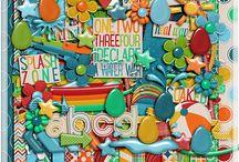 Soaked Collection / http://scraporchard.com/market/Soaked-Digital-Scrapbook-Kit.html