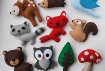 3.Felt cuddly toys