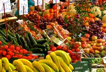 "Food Markets around the World / Highlighting food and produce that are ""In Season Now"""