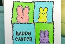 5 for 5 Easter Inspiration / Craft projects including greeting cards by crafty bloggers.