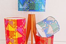 Carole Nevin Tribal Lampshades
