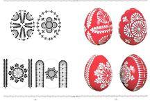 vajíčka s voskom maľované