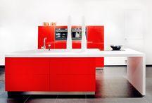 Ferrari rood met corian blad