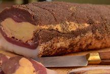 Magret séché farci au foie gras