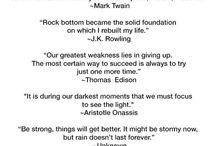 Tough times & inspirational