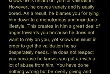 Narcissists & Abuse :( / Explanation of behaviours of a narcissistic personality