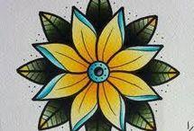 Tatoo flower