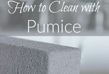 Clean with pumice