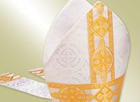 Mitres / Mitre is a ceremonial headdress  worn by Bishops as a symbol of office. Mitres are traditionally worn within the Roman Catholic Church and Anglican Church